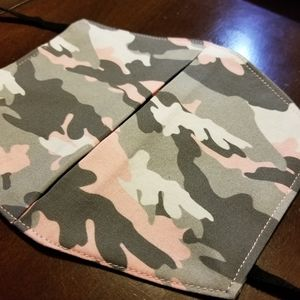 Pink and grey Camouflage Cotton Facemask